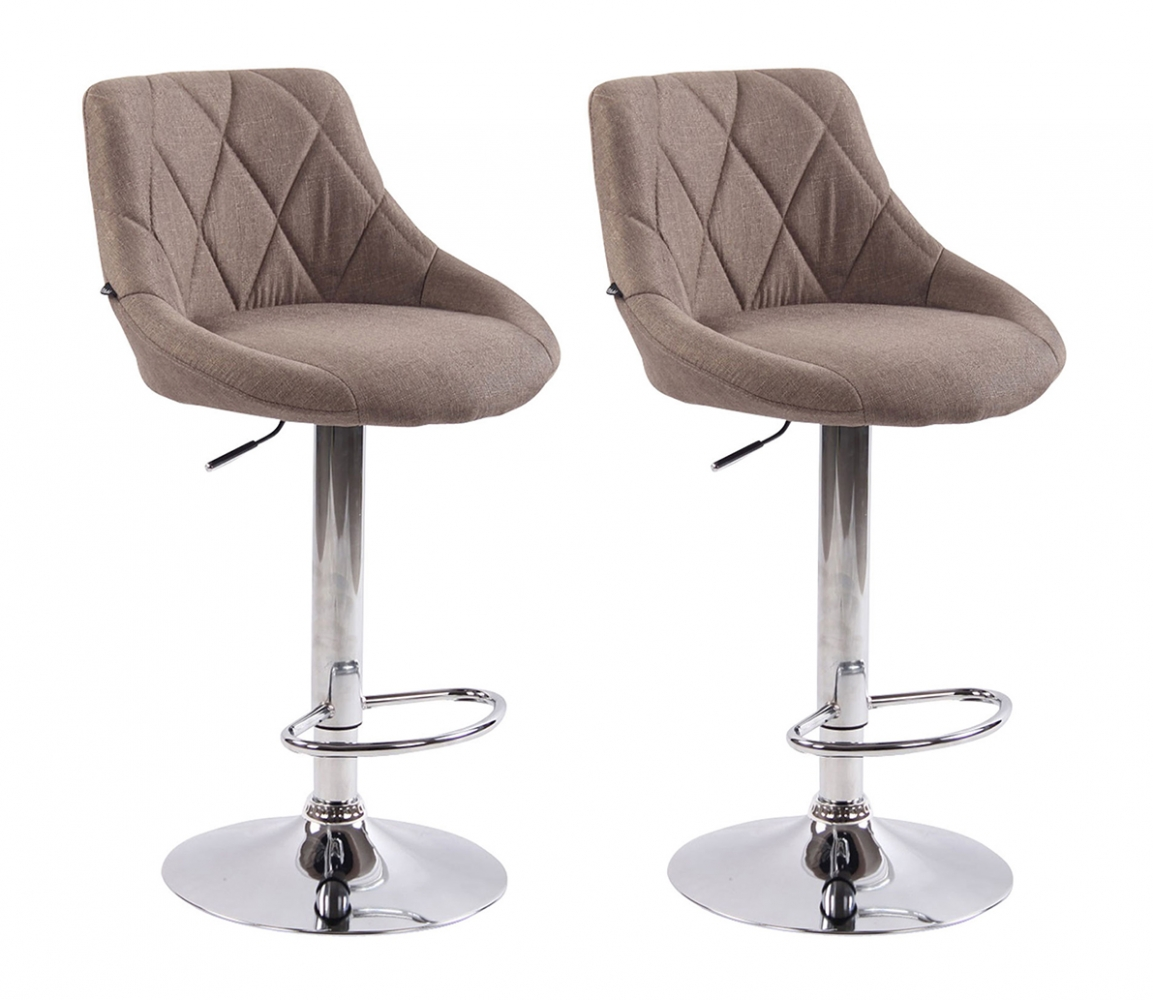 Barová židle Lazo (SET 2 ks), béžová
