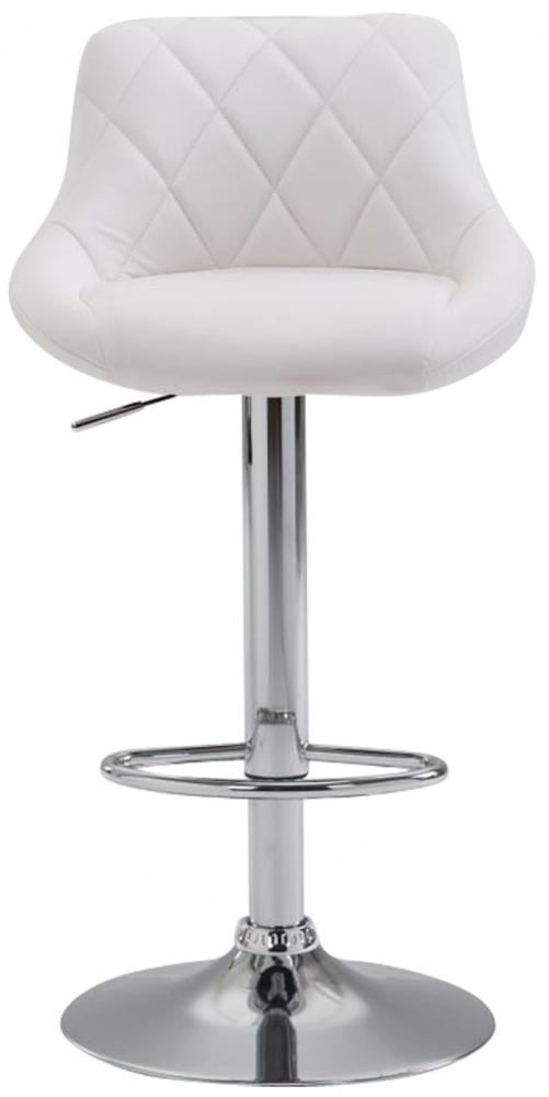 Barová židle Lazo (SET 2 ks), bílá
