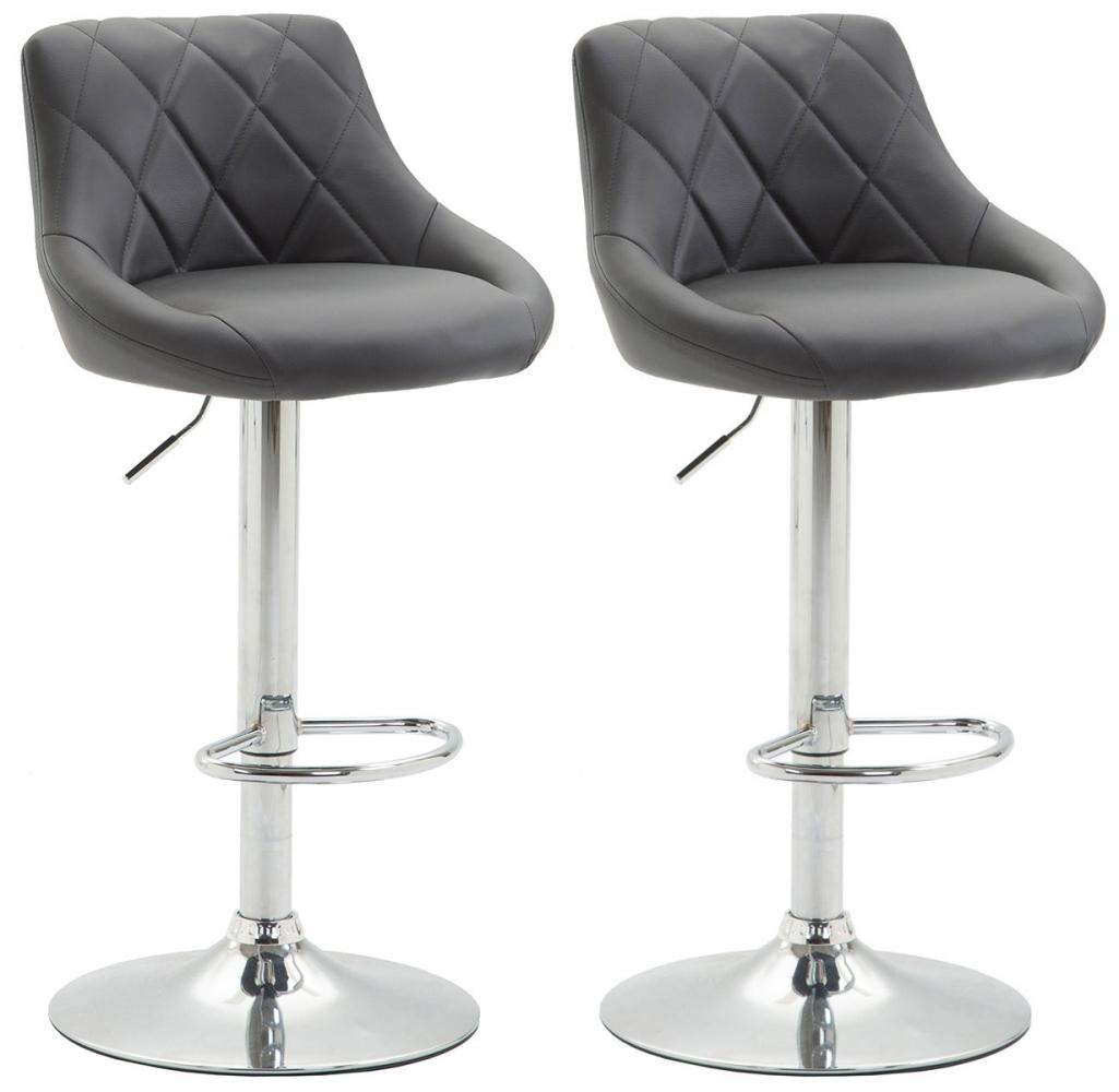 Barová židle Lazo (SET 2 ks), šedá
