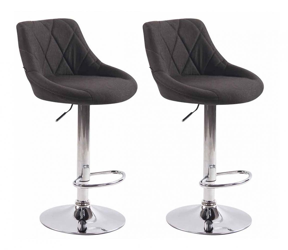 Barová židle Lazo (SET 2 ks), tmavě šedá