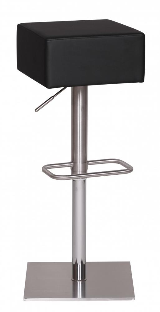 Barová židle Lena, černá / nerez