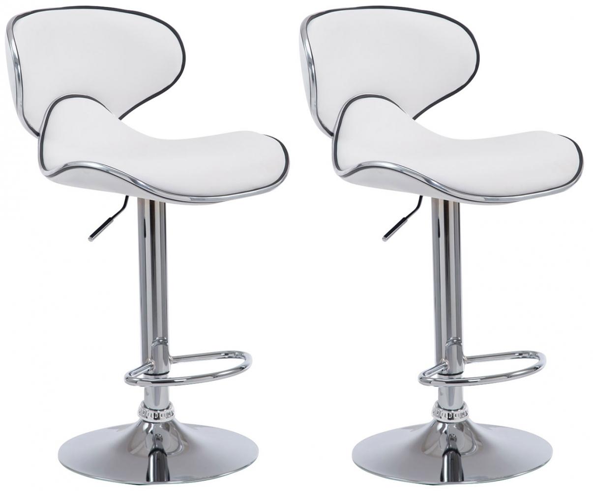 Barová židle Lisa (SET 2 ks), bílá