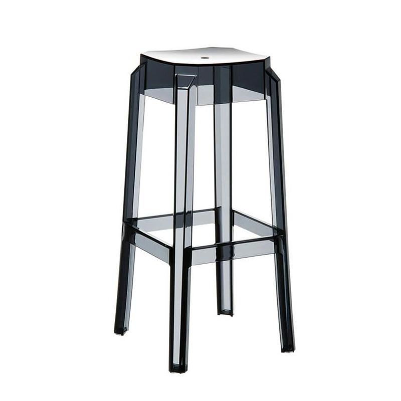 Barová židle Logre transparentní, černá