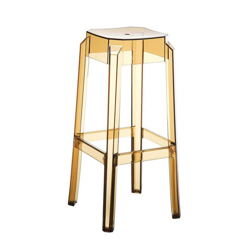 Barová židle Logre transparentní, jantarová