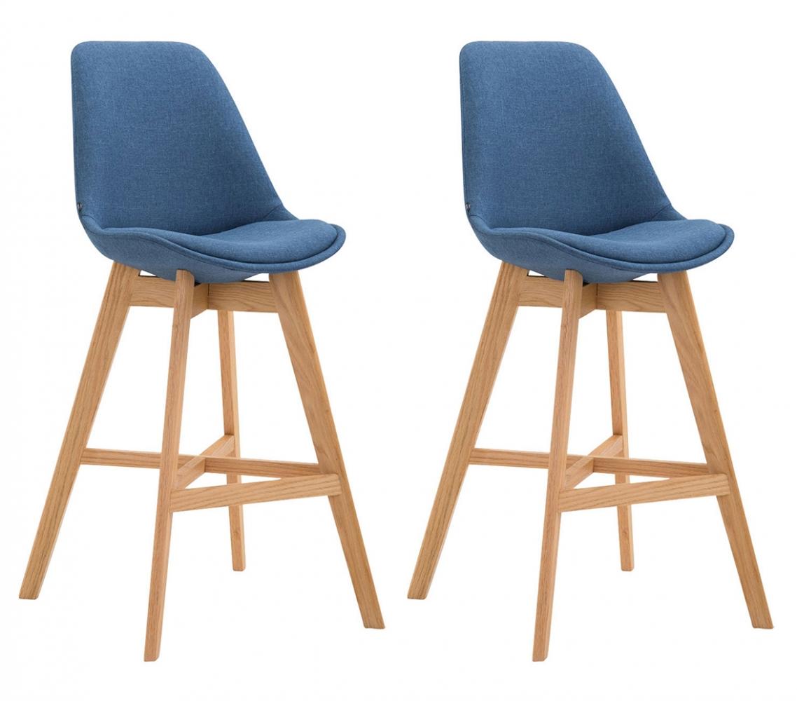 Barová židle Lucia (SET 2 ks), modrá