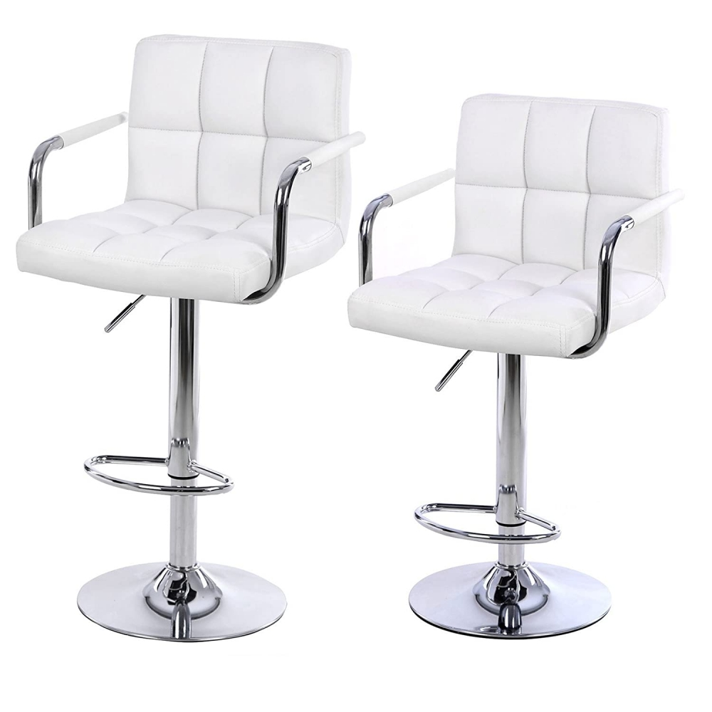 Barová židle Lydie (SET 2 ks), bílá