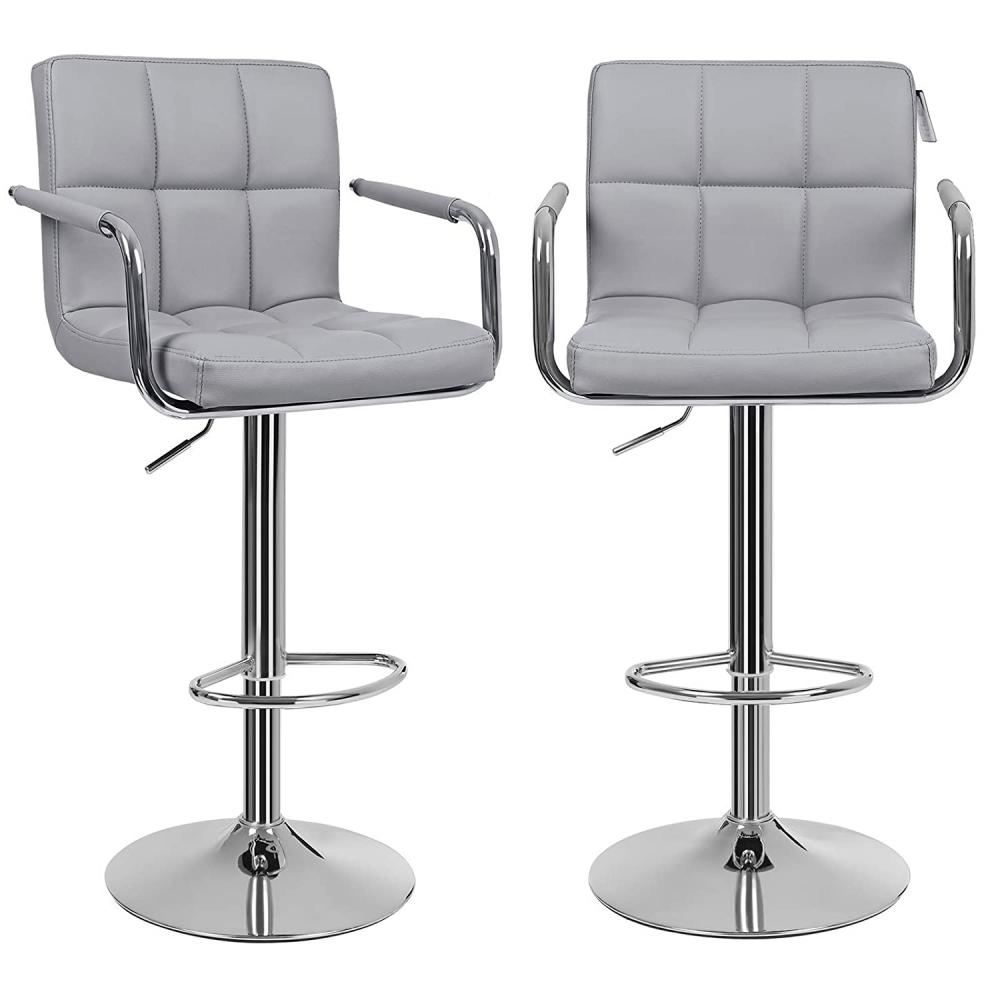 Barová židle Lydie (SET 2 ks), světle šedá