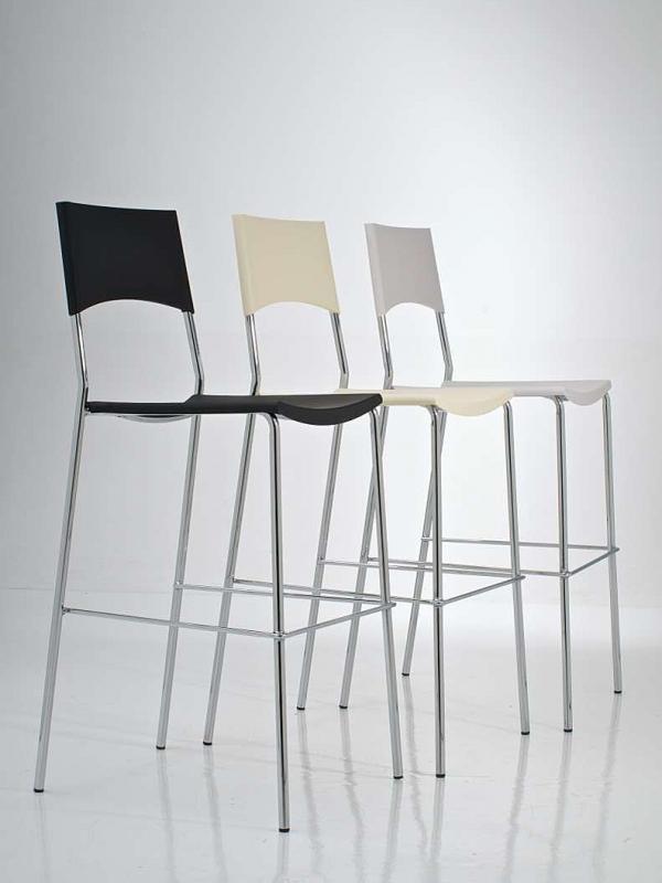 Barová židle Manila (SET 2 ks) krémová