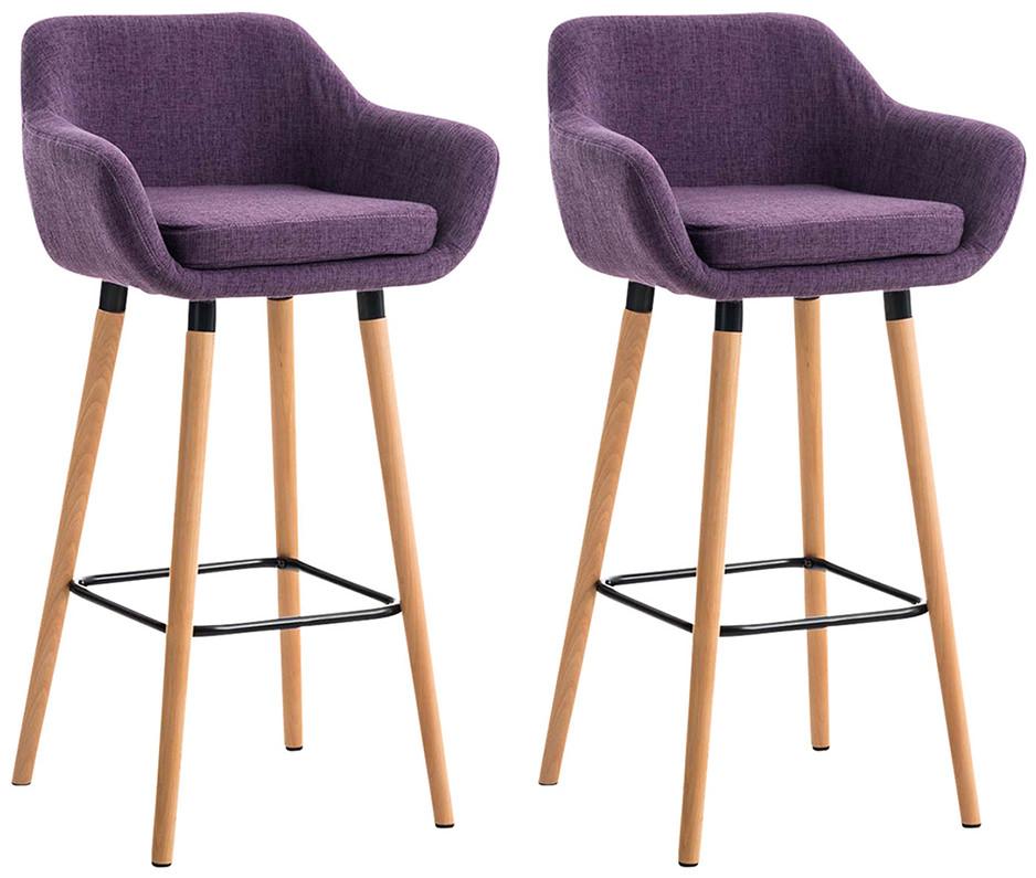 Barová židle Maria (SET 2 ks), fialová