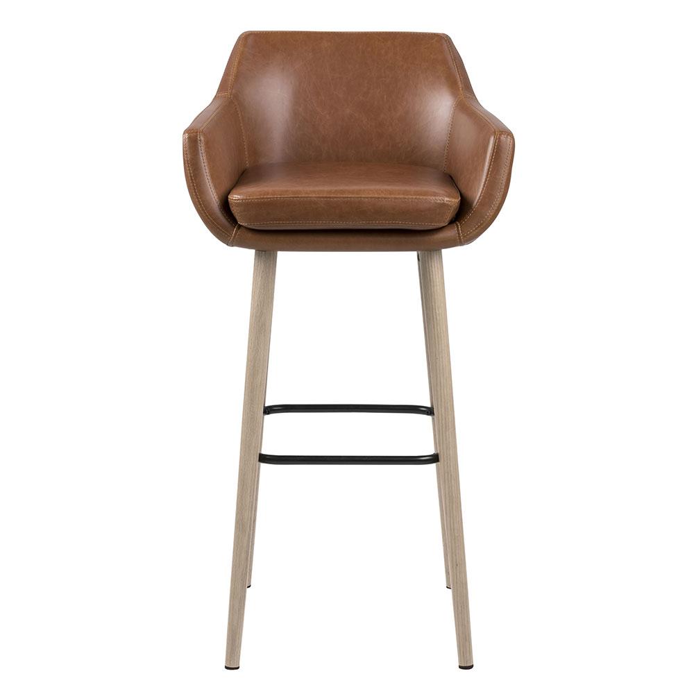 Barová židle Marte (SET 2 ks), koňaková