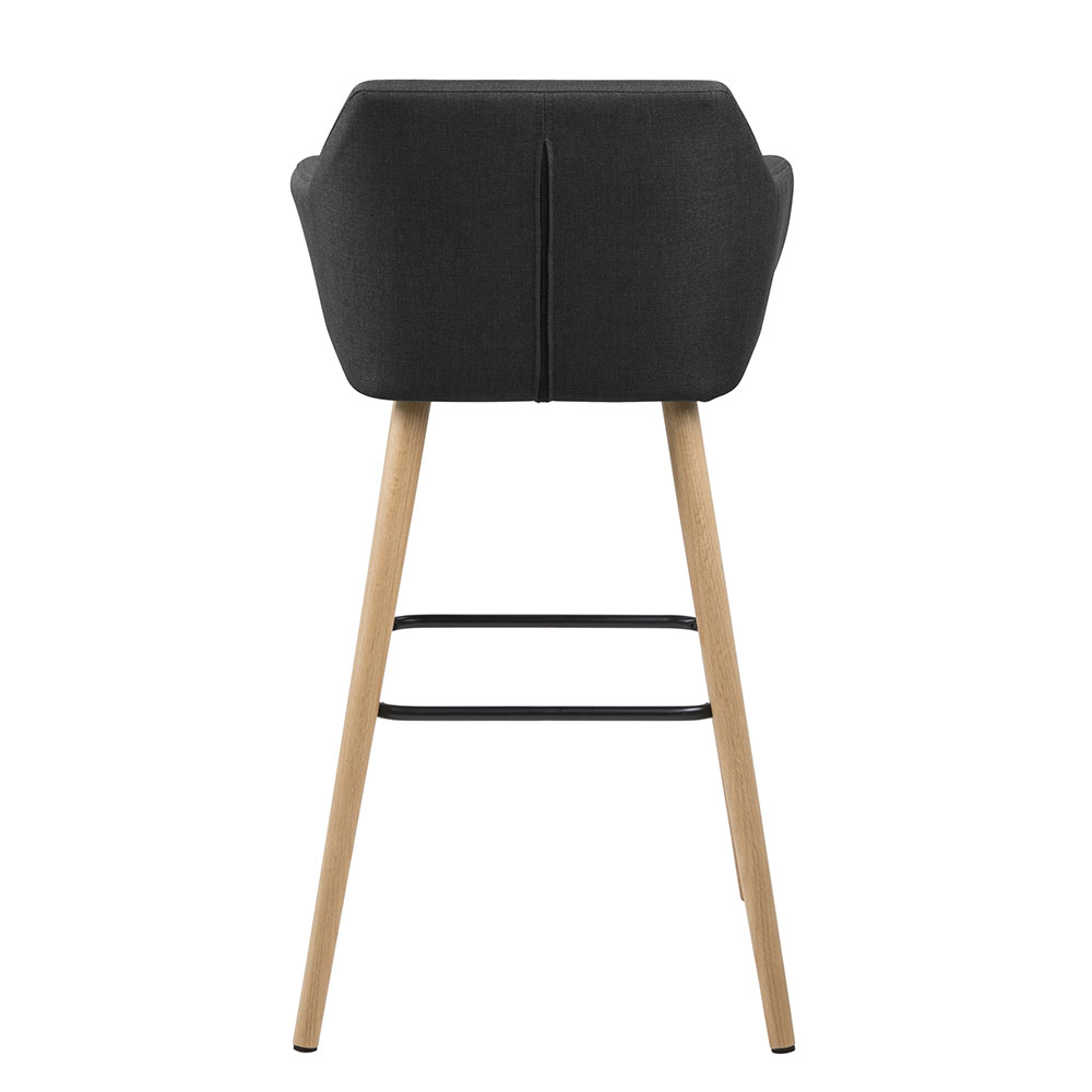 Barová židle Marte (SET 2 ks), tm. šedá