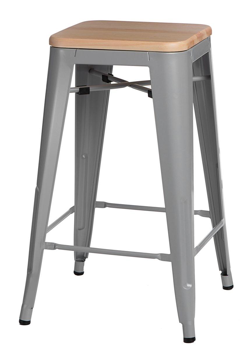 Barová židle Mason bez opěradla, světlé dřevo