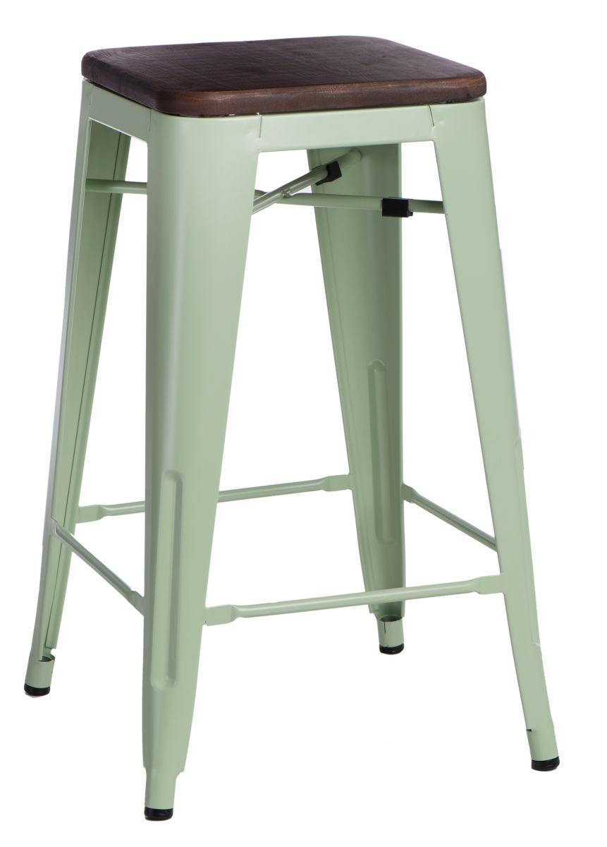 Barová židle Mason bez opěradla, tmavé dřevo