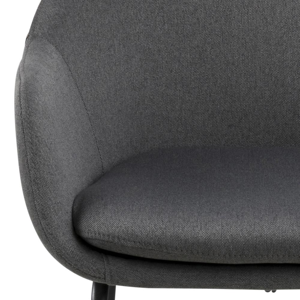 Barová židle Melina (SET 2 ks), tm. šedá