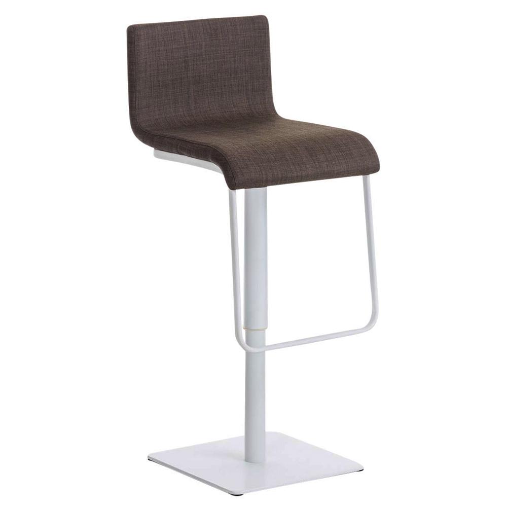 Barová židle Mona, bílá podnož fialová