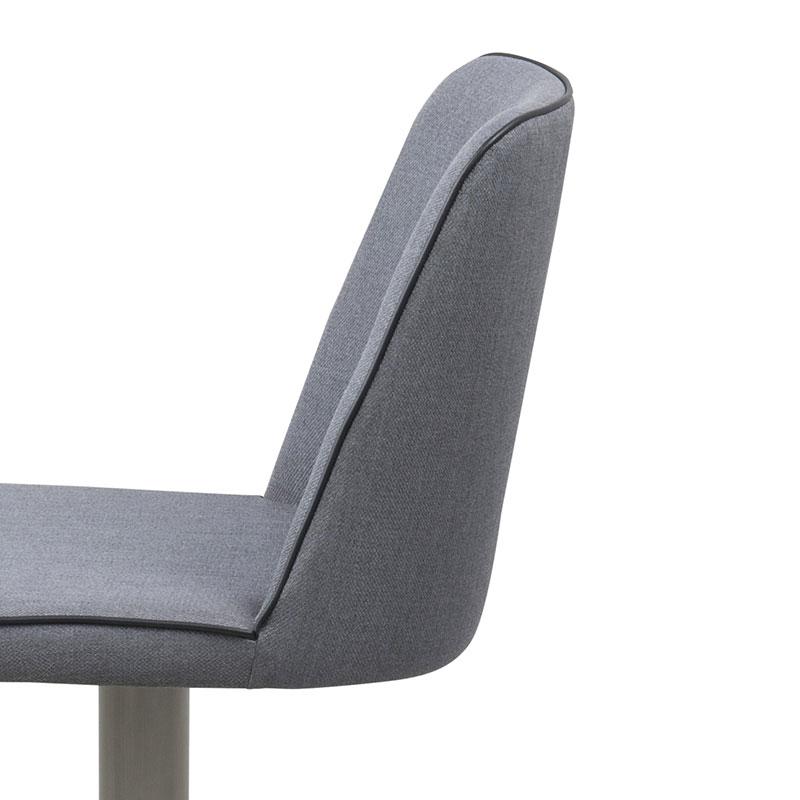 Barová židle na nerezové podnoži Ajka, šedá