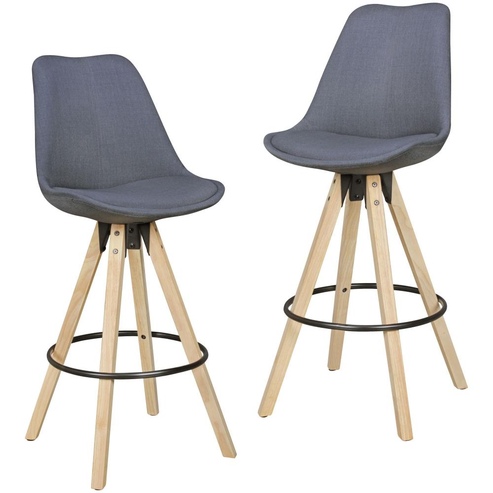 Barová židle Olga (SET 2 ks), antracitová