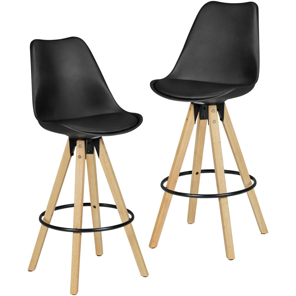 Barová židle Olga (SET 2 ks), černá