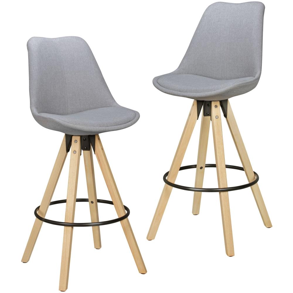 Barová židle Olga (SET 2 ks), sv. šedá