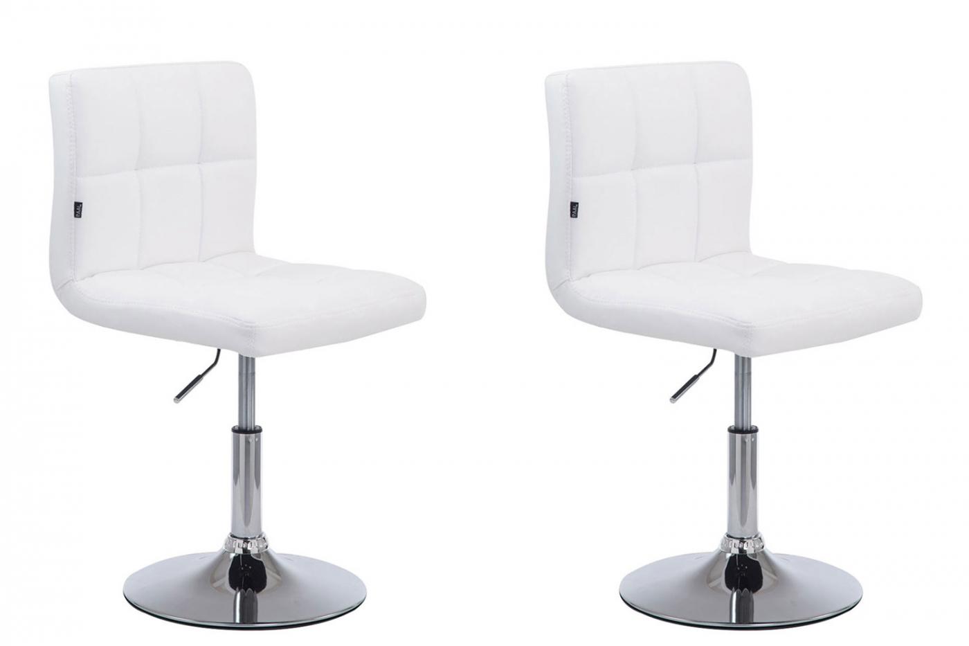Barová židle Palm (SET 2 ks), bílá