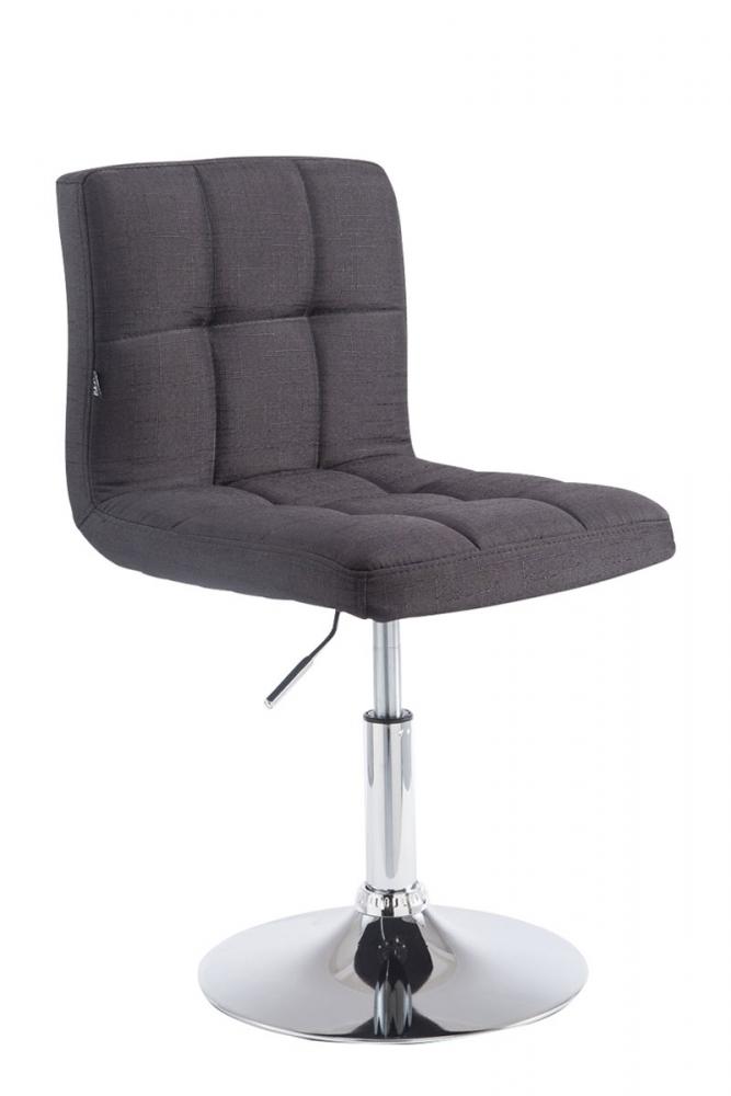 Barová židle Palma, textil, černá
