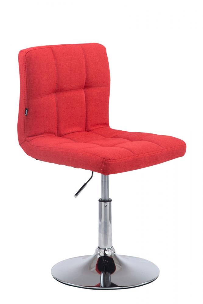 Barová židle Palma, textil, červená