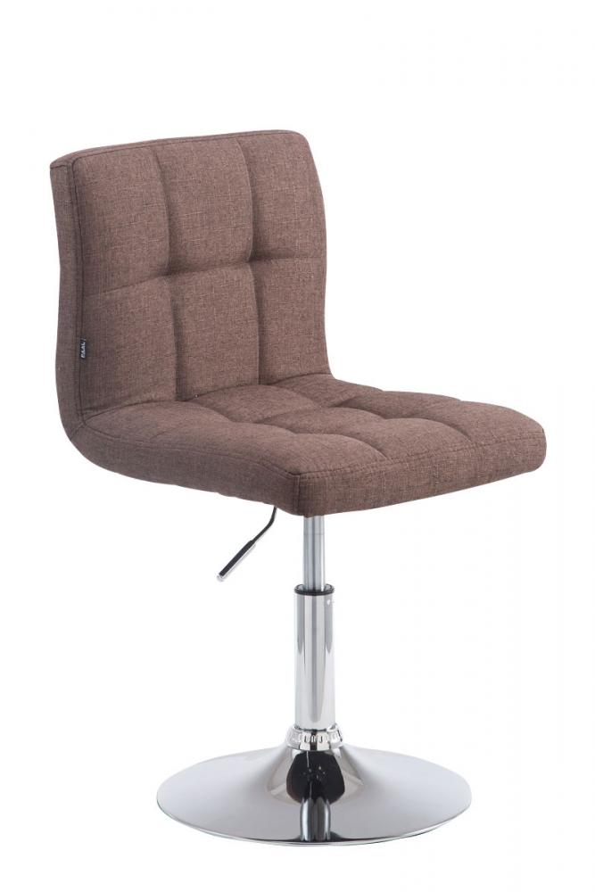 Barová židle Palma, textil, hnědá