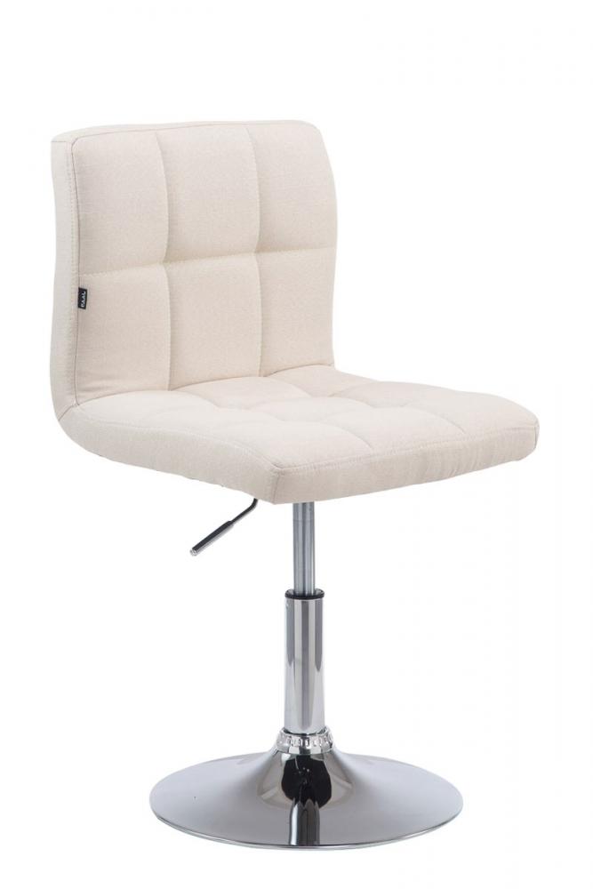 Barová židle Palma, textil, krémová