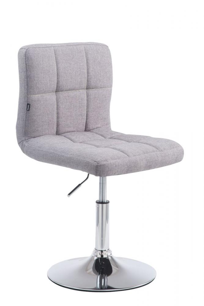 Barová židle Palma, textil, šedá