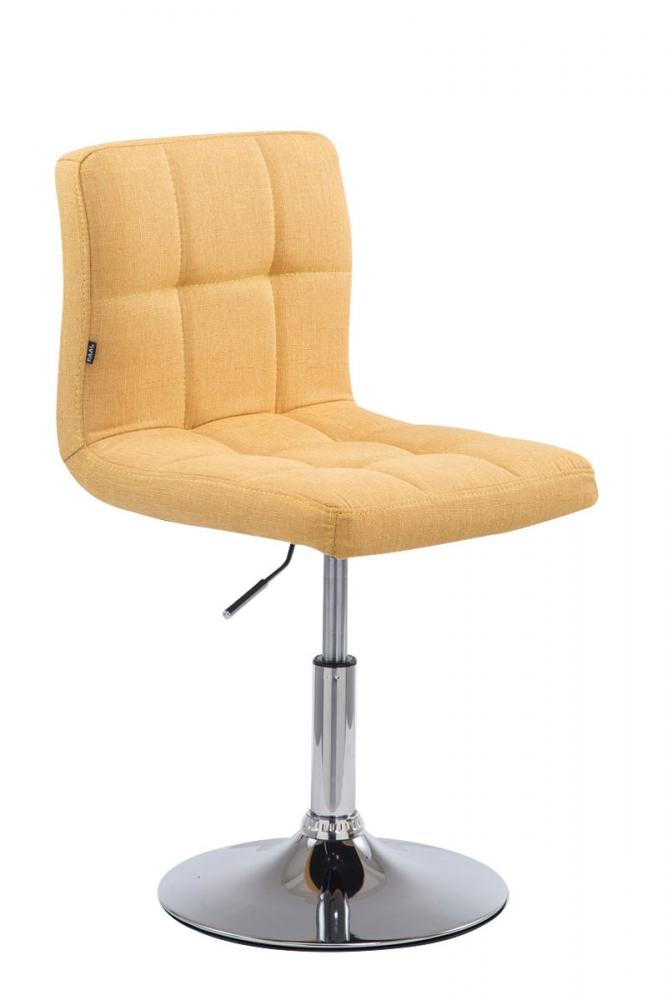 Barová židle Palma, textil, žlutá