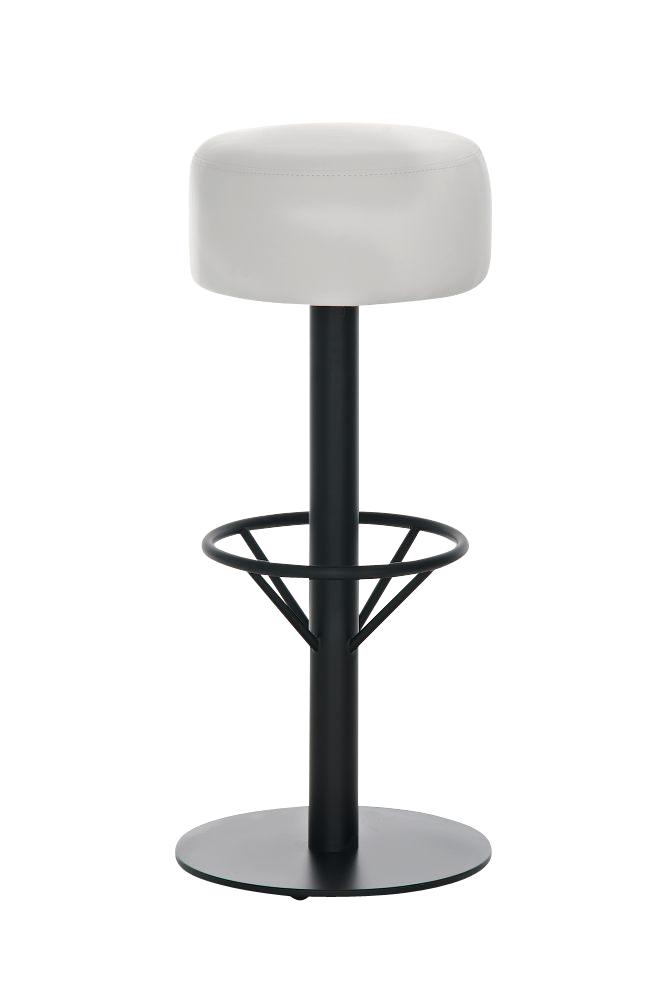 Barová židle Pisa, černá / bílá