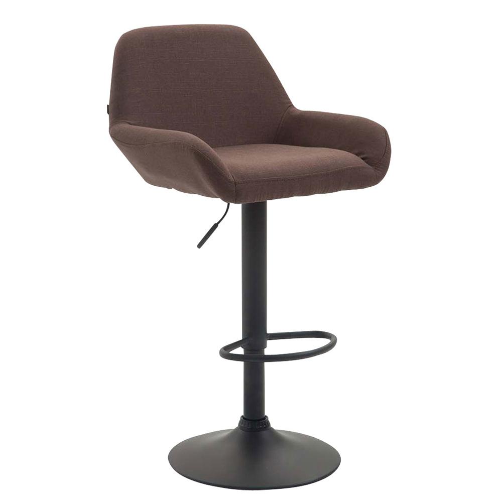Barová židle Praga textil šedá