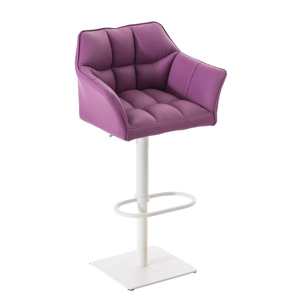 Barová židle s bílou podnoží Sofi fialová