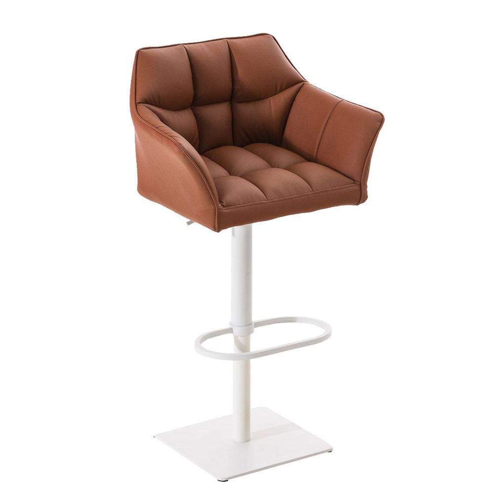 Barová židle s bílou podnoží Sofi červená