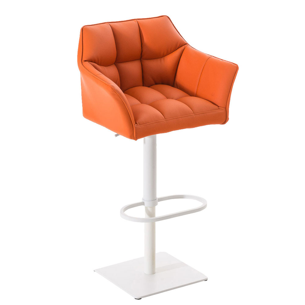 Barová židle s bílou podnoží Sofi oranžová