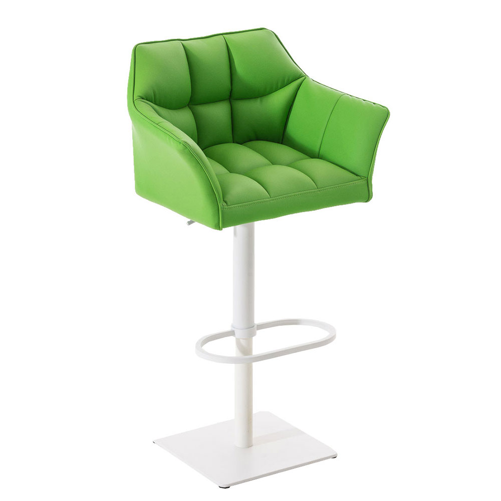 Barová židle s bílou podnoží Sofi zelená