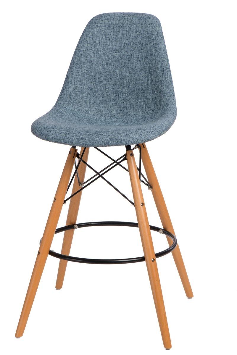 Barová židle s dřevěnou podnoží Desire čalouněná