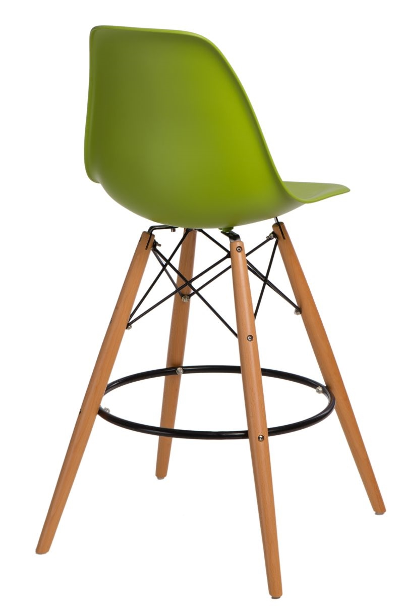 Barová židle s dřevěnou podnoží Desire