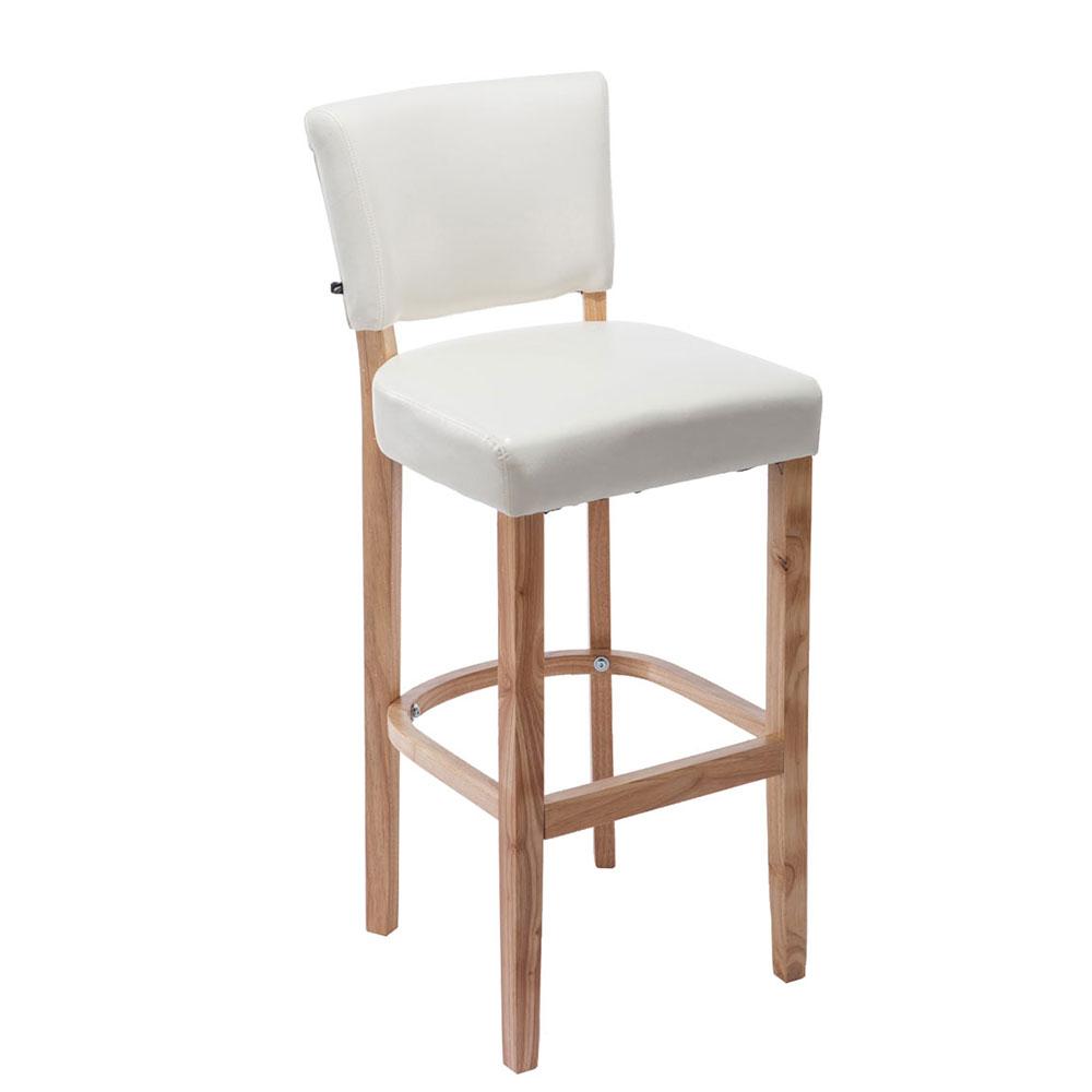 Barová židle s dřevěnou podnoží Ellen