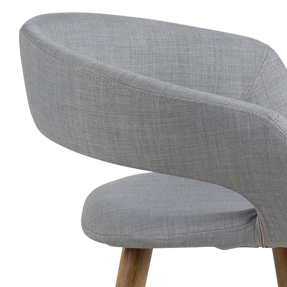 Barová židle s dřevěnou podnoží Garry (SET 2 ks), šedá