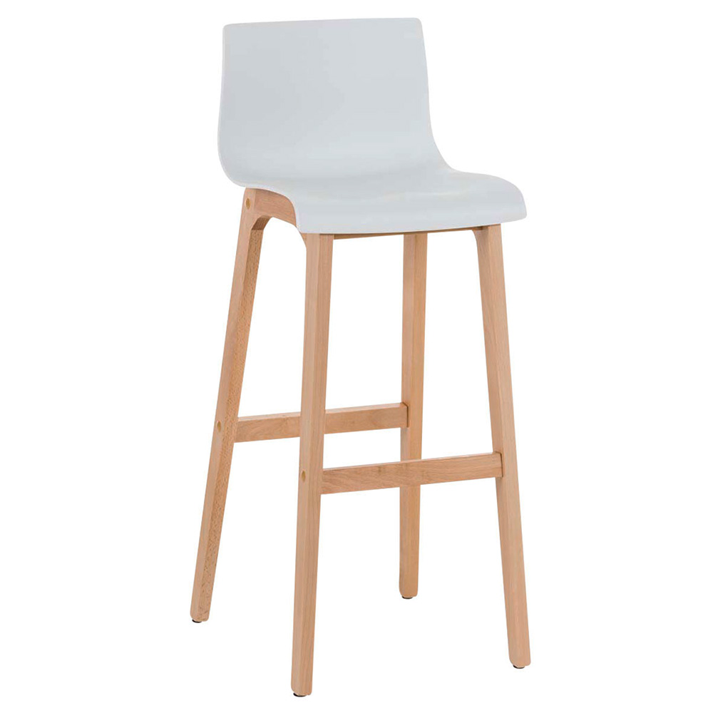 Barová židle s dřevěnou podnoží Luxor šedá
