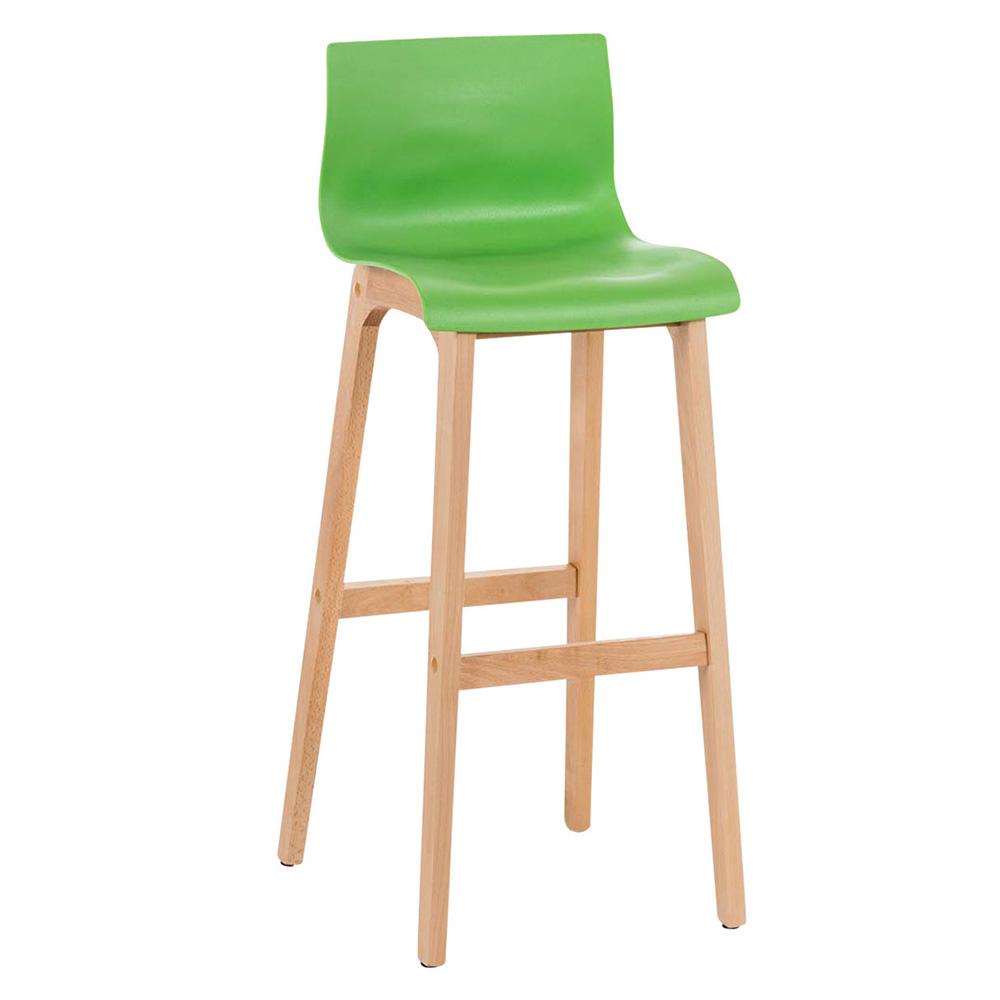Barová židle s dřevěnou podnoží Luxor