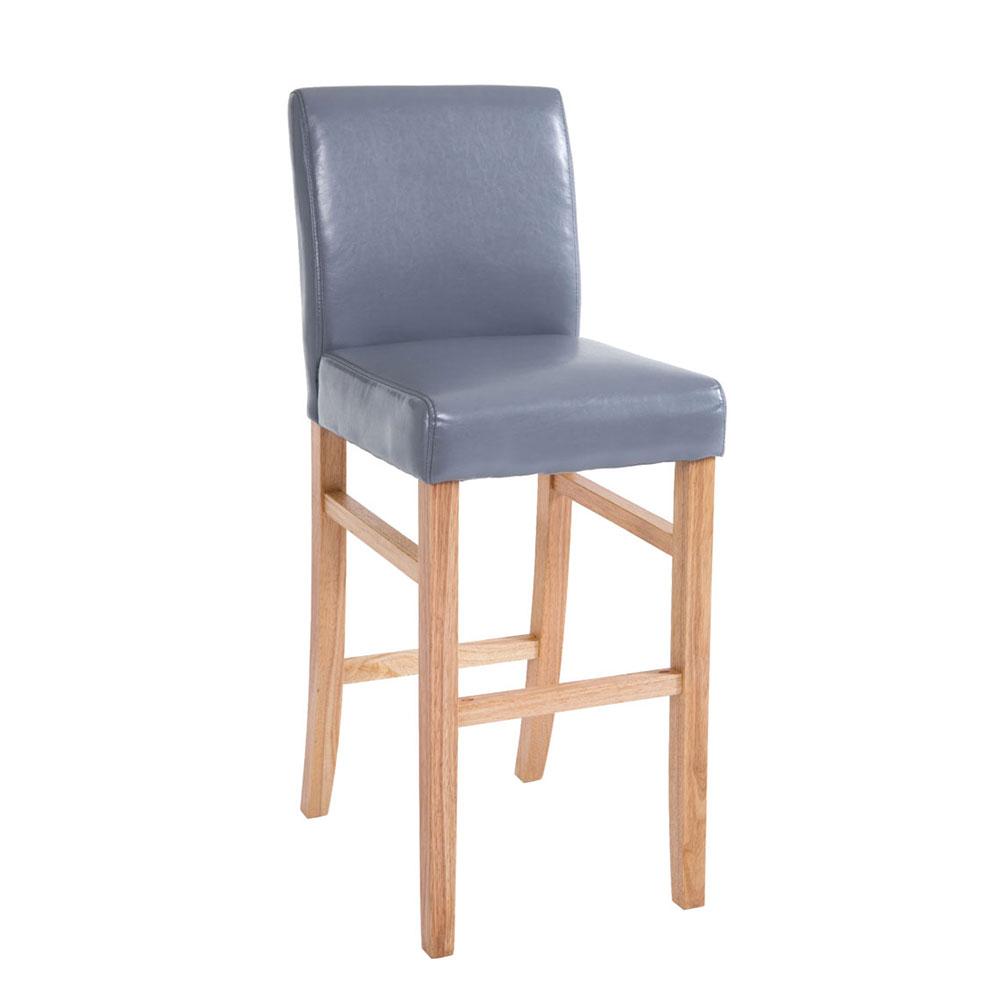 Barová židle s dřevěnou podnoží Wilma