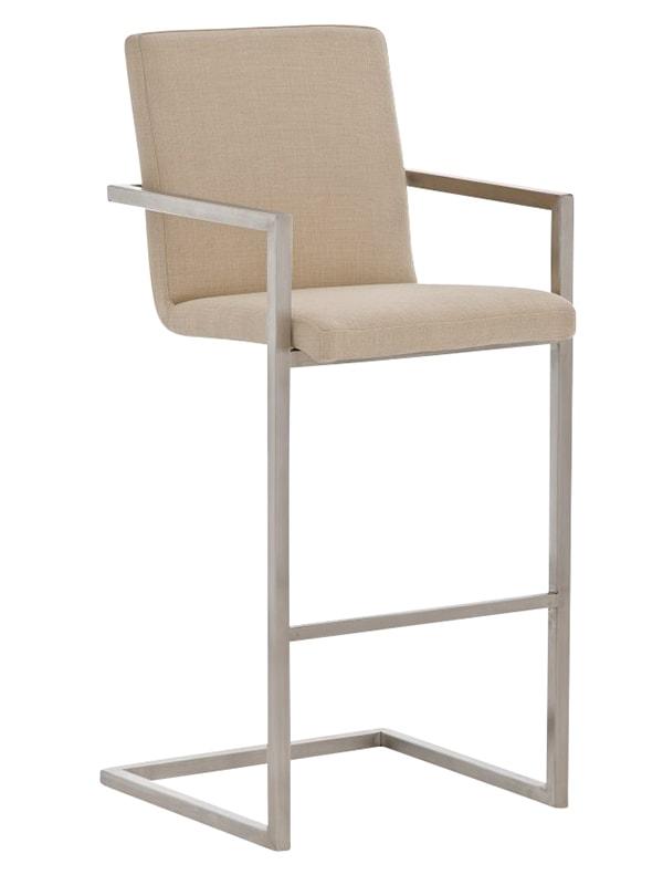 Barová židle s nerezovou podnoží Aster textil