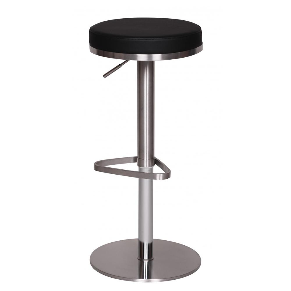 Barová židle s nerezovou podnoží Dreja, černá