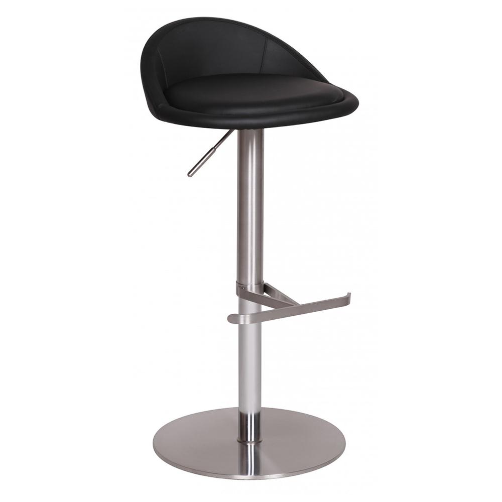Barová židle s nerezovou podnoží Durable, černá