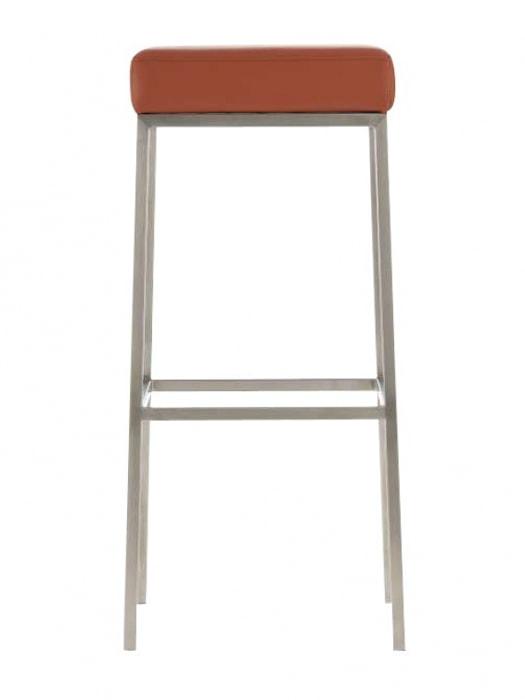 Barová židle s nerezovou podnoží Frankie bílá