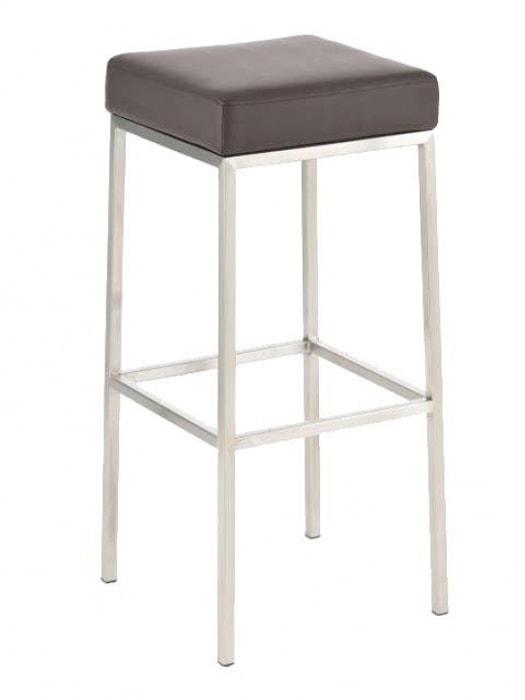 Barová židle s nerezovou podnoží Frankie oranžová