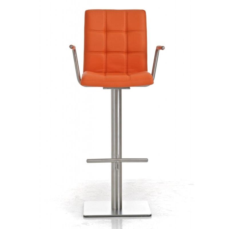 Barová židle s nerezovou podnoží Indigo