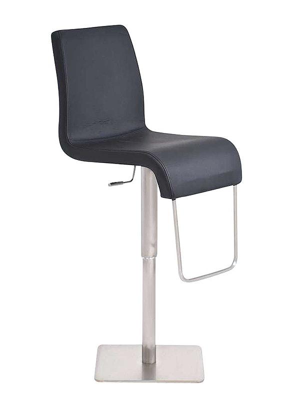 Barová židle s nerezovou podnoží Jimmy